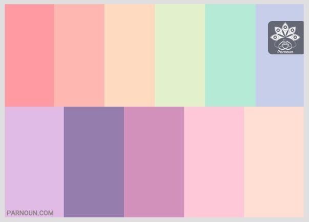 رنگهای پاستیلی