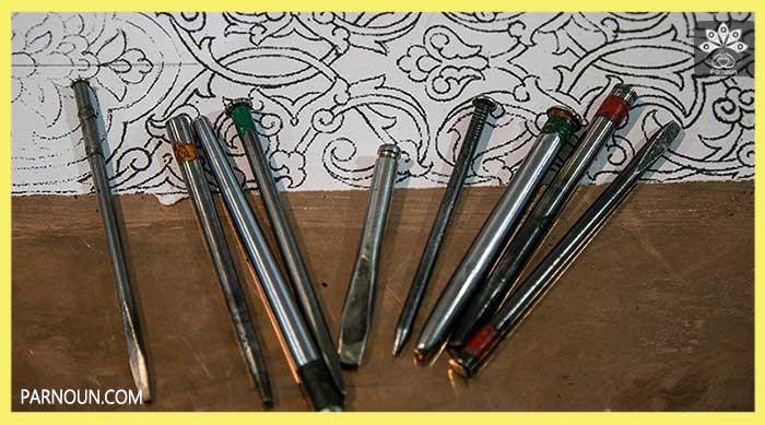انواع قلم در قلمزنی