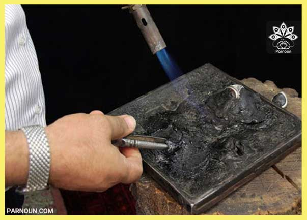 ابزار شعله افکن در قلمزنی