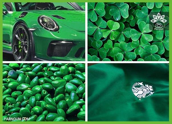 نماد رنگ سبز