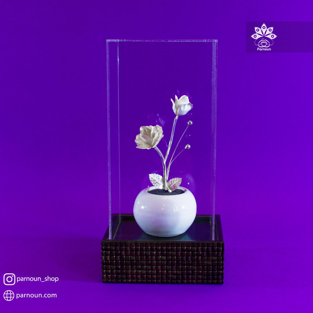 گل رز نقره